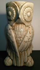 Vintage Owl Planter Vase Umbrella Stand Ceramic Tall Garden Sculpture
