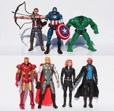 7Pcs The Avengers Iron man Hulk Thor Captain Black widow Action Figure Toys gift