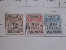 China/3 Different 1893 Shanghai Municipality Postage Due Stamps/Unused/Hinged
