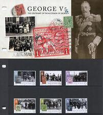 Isle of Man IOM 2010 MNH George V Accession 6v Set Pres Pack Royalty Stamps
