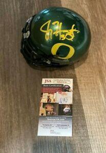 Joey Harrington signed Oregon Ducks Mini Helmet JSA COA