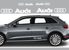 4 adesivi logo audi sticker side fiancate A1 A3 A4 A5 A6 Q3 Q5 Q7 tt  bianchi
