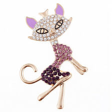 Fox Rhinestone Alloy Jewelry Accessories DIY Phone Case Decoration Kit Purple