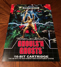 "Ghouls N Ghosts Sega Genesis case box art video game 24"" poster print goblins"