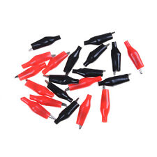 20pcs Red Black Soft Plastic Testing Probe Alligator Clips Crocodile Test Clic E