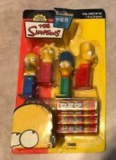 Simpsons 4 Pc Set Homer Bart Lisa Marge Pez Dispenser w/ Candy NEW in 1 Package