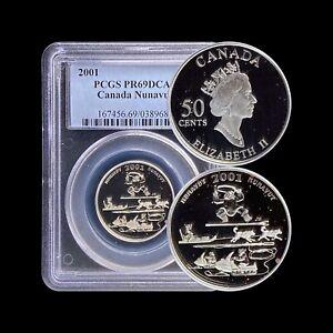 2001 Canada 50 Cent (Silver) - PCGS PR69 DCAM - Top Pop 🥇 Nunavut