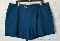 Lane Bryant Women's Elegant Dark Teal Shorts Style Fix size 22 NEW NWT