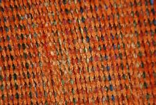 Upholstery Material Fabric Rust Chenille Weave Soft & Durable Sold By The Yd
