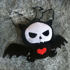 Lolita Skull Bat Cat Plush Black Backpack Handbag Punk Cute Doll Messenger Bag