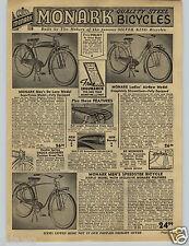 1941 PAPER AD Monark Deluxe Model Bicycle Tank Light Headlight Spring Streamline