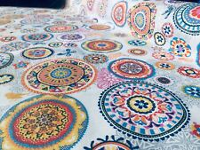 IBIZA SUMMER Bird Flower Mandala Fabric Curtain Upholstery Material 140cm wide