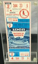 1968 WORLD SERIES TIGERS @ ST LOUIS CARDINALS FULL TICKET GAME 2 LOLICH WIN 1 /3