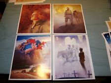Set/4 Americana Prints by NC & James Wyeth Jefferson Soldiers Stonewall Jackson