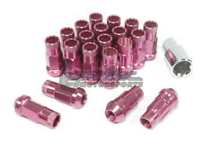 NNR Steel Extended Wheel Lug Nuts & Locks Open Ended Pink 49mm 12x1.25 20pcs