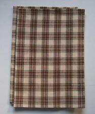Country Plaid Burgundy, Sage, Cream Cotton Kitchen Towels Set of 2 GRIST MILL
