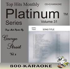 Top Hits Monthly Platinum THMPL31 George Strait 17 Song v2 Karaoke CD+G RARE cdg