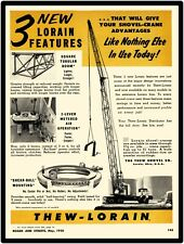 1956 Thew Shovel Co. New Metal Sign: Lorain Shovel Crane/Truck Crane Features