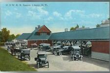 c1909 O & W R R Ontario & Western Railroad Station Liberty New York Postcard NY