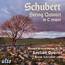 CD SCHUBERT STRING QUINTET C MOZART DIVERTIMENTO K136 AEOLIAN QUARTET SCHRECKER