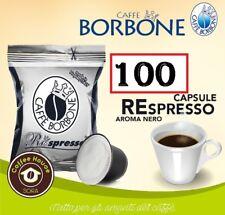 100 CIALDE CAPSULE CAFFE' BORBONE MISCELA NERA RESPRESSO COMPATIBILE NESPRESSO