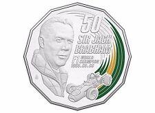 2017 Australian Motor Racing - Sir Jack Brabham Coloured 50c Coin