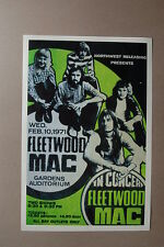 Fleetwood Mac 1971 Concert Tour PosterGardens Auditorium