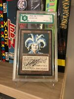 JESTER'S CAP ICE AGE 1995 SIGNED BY DAN FRAZIER GRADED 6 MTG