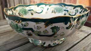 Masons  Green Chartreuse Large footed fruit bowl