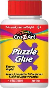4.5 Oz Jigsaw Puzzle Glue Applicator Laminated Finish Quick Clear Dry Plastic