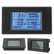 DC 20A LCD Combo Meter Voltage Current KWh Watt Car Battery Pannel Power Monitor