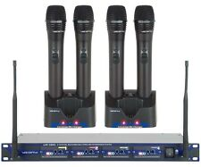 VocoPro Uhf-5805 900Mhz 4 Channel Rechargeable Wireless Microphone Fcc Mandated