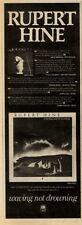 """24/4/82PGN44 ADVERT 15X5"""" RUPERT HINE : WAVING NOT DROWNING"""