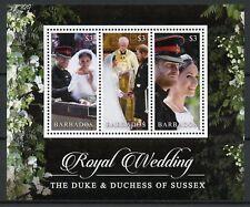 More details for barbados 2018 mnh prince harry & meghan royal wedding 3v m/s royalty stamps