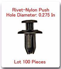 """100 Pc Rivet Nylon Push Hole Dia: 0.275"""" Fits: 4Runner Corolla MR2 Pickup Tercel"""