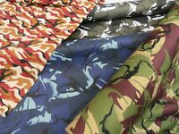 100% Cotton Drill CAMO Camouflage Army Green Black Soldier Military Dress Fabric