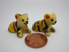 Ceramic Tiger x 2 Doll House Miniature Animal ,Garden ,(Random)