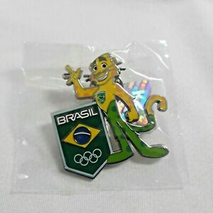 Official Pin Olympic Games Rio 2016 - Limited edition - Ginga Mascot Brazil Team