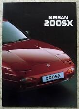 NISSAN 200SX Sports Car Sales Brochure Oct 1993 #999 A230S13