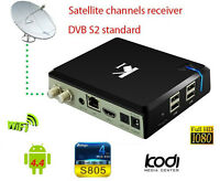 ^mt Android 4.4 Mini PC k1 TV Ricevitore DVB S2 Satellitare HD Recorder Miracast
