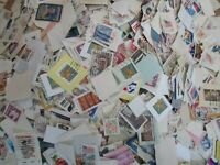 5000 US SMALL MEDIUM AND LARGE USED UNITED STATES STAMPS ON PAPER