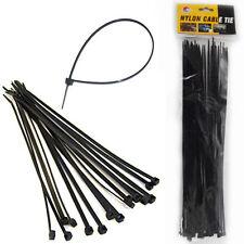 80 Nylon Cable Ties 30CM Black Plastic Zip Wire Fastening Strap Tie Durable 30cm