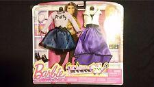 Barbie Clothes Pop Concert 2pc Set Pretty Purple Black White Skirt Dress Outfit