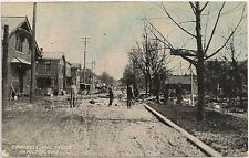 View On Campbell Avenue After Flood in Hamilton OH Postcard 1913