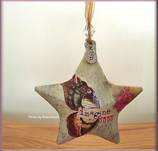 IMAGINE STAR ORNAMENT BY KELLY RAE ROBERTS FREE U.S. SHIPPING
