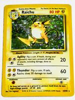 Raichu 14/102 - Pokemon Base Set 1999 - Holo Foil Rare Card - MINT - PSA READY
