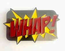 Vintage Batman Style WHAP! metal Belt Buckle