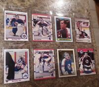 (8) Bob Essensa Rookie card lot 1990-91 Upper Deck Score Topps Pro Set Bowman RC
