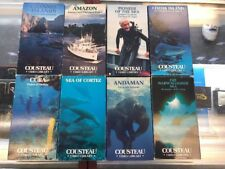 Lot Of 8 Time Life Video Jacques Cousteau VHS Video Library Colypso Turner Home