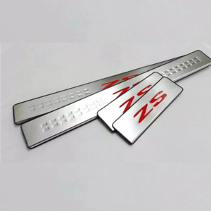 MG ZS  Sill Cover Protector Scuff Plates Guard Stainless Steel RED Fits MG ZS EV